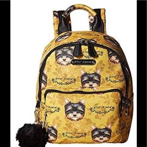 2 LEFT 🌻 Betsey Johnson yorkie backpack